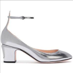 Authentic Valentino Tango silver mirror heels 41